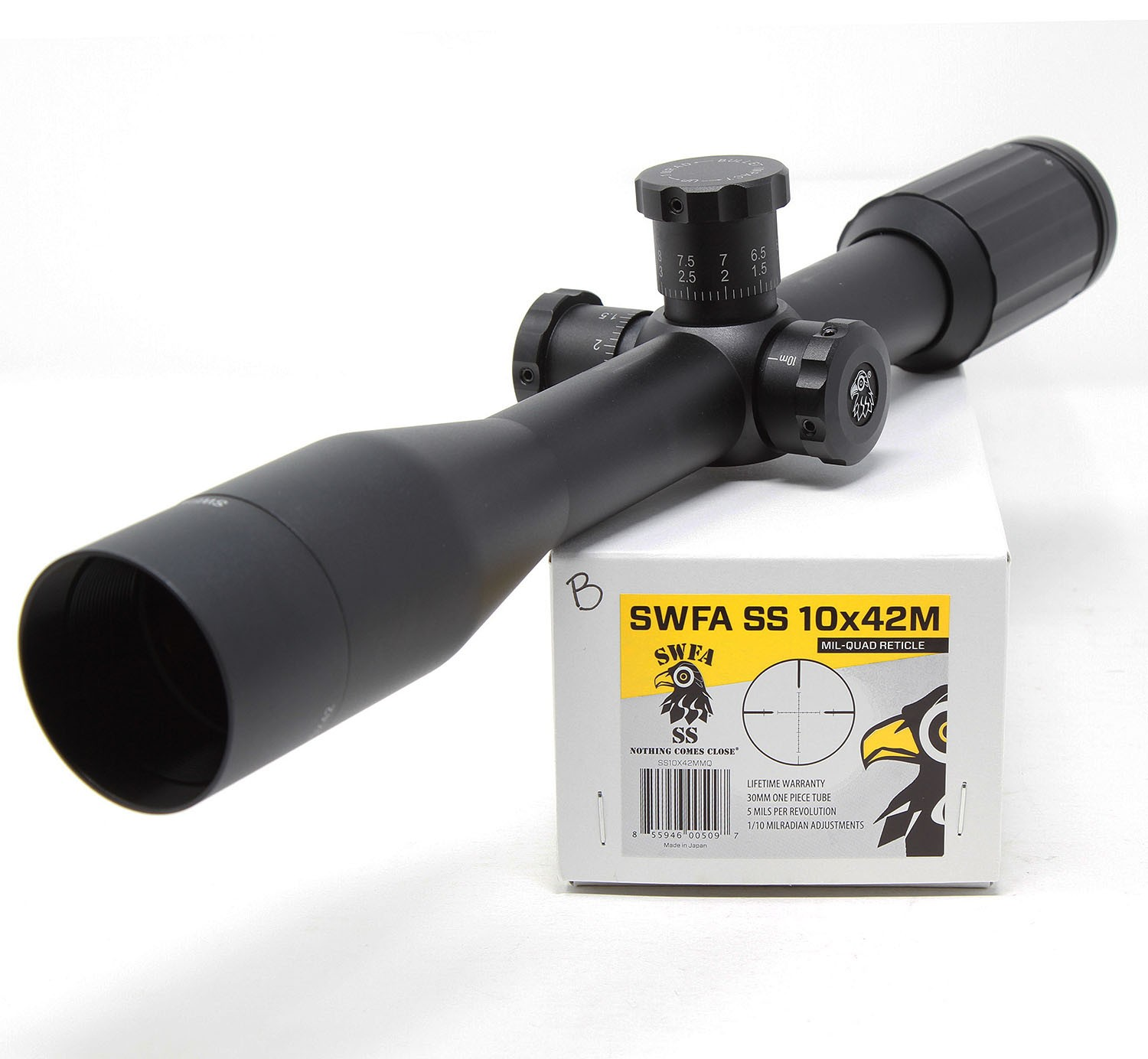 SWFA SS 10x42MMQ 30mm Tactical Rifle Scope DEMO-B