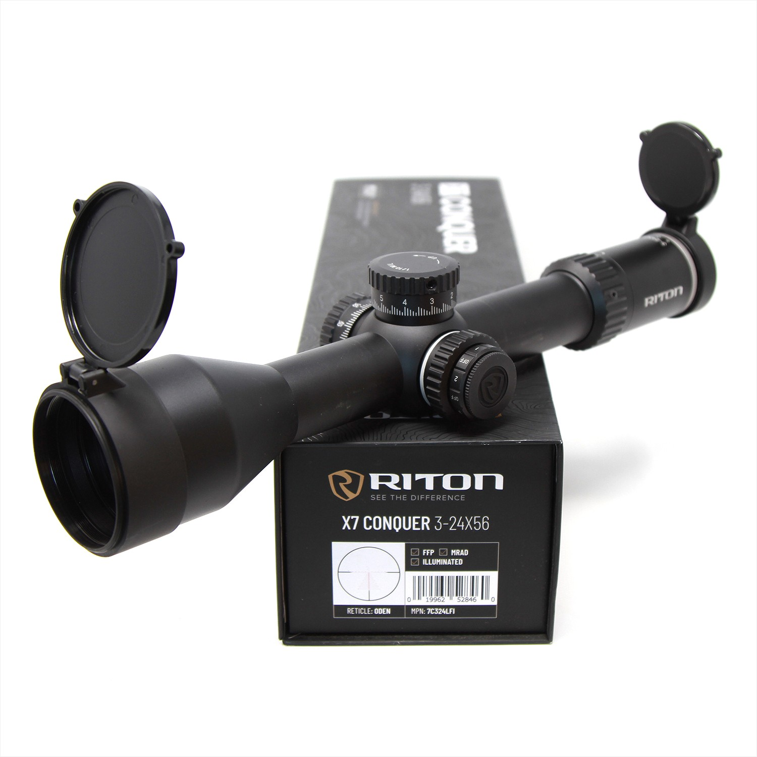 Riton 3-24x56 X7 Conquer 34mm Rifle Scope DEMO-B